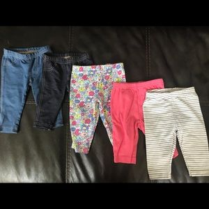 Carters Baby girl Pants lot - 3 months